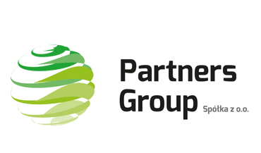 Logo firmy Partners Group z Poznania.